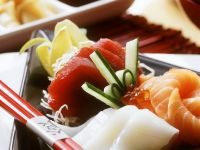 Sashimi mit verschiedenem Fisch