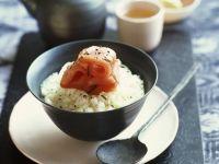 Sashimi vom Thunfisch mit Tee-Reis