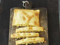 Sauerkraut im Teigmantel gebacken