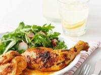 Scharfes Hähnchen mit Salat