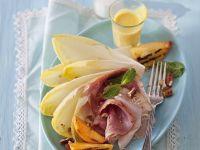 Schinken mit Pfirsich vom Grill