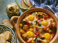 Schmorgemüse mit Ei