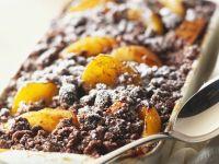 Schoko-Crumble mit Aprikosen