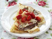 Schoko-Erdbeer-Crepes