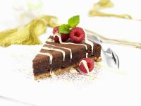 Schokoladen-Karamell-Kuchen auf englische Art