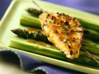 Schwertfisch mit Madeira und Spargel