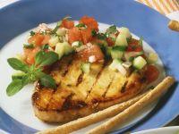 Schwertfisch mit Melonensalsa