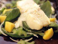 Seebarsch mit Kokossauce