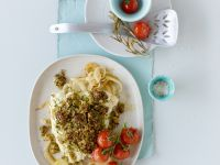 Seelachs mit Pesto-Haube