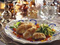 Seeteufel mit Paprika und Zucchini