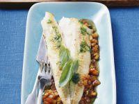 Seezungenfilet auf Ratatouille-Gemüse