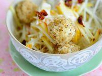 Selleriesalat mit Tofuklößchen