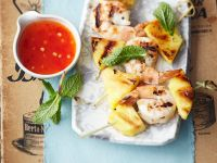 Shrimps-Ananasspieße