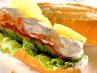 Shrimps-Gemüse-Baguette