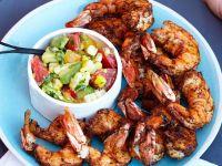 Shrimps vom Grill mit Salsa