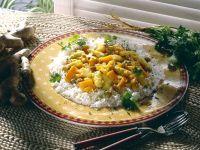 Spargel-Möhrencurry mit Reis