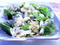 Spinat-Champignon-Salat mit Trüffeln