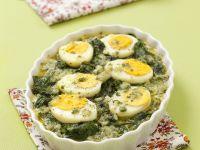 Spinat-Gratin mit Ei und Parmesan