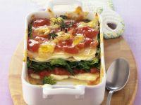 Spinat-Lasagne mit Quark