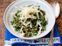 Spinatsalat mit Käse