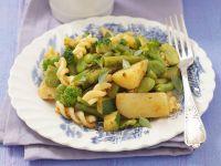 Spirelli mit grüner Gemüsesoße