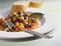 Straußen-Gemüsegulasch