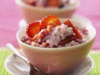 Süßes Risotto mit Erdbeeren