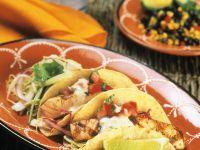 Taco Shells mit Lachs und Gemüse