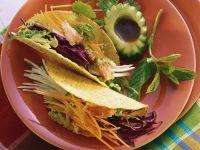 Taco Shells mit Salatfüllung