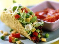 Tacos mit buntem Salat