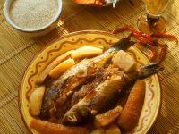 Tajine mit Fisch und Gemüse