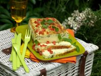 Terrine mit Basilikum und Parmesan
