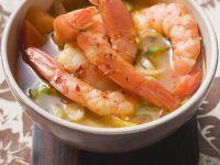 Thai-Suppe mit Garnelen