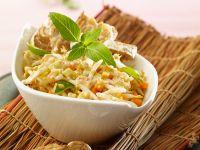 Thaisalat mit gebackenem Tempeh