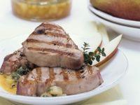 Thunfischsteak mit Salsa aus Birne