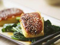 Tofu auf Mangold