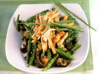 Tofu-Bohnen-Pfanne mit Shiitake