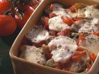 Tomaten-Fenchel-Gratin mit Mozzarella