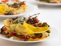 Tomaten-Mozzarella-Lasagne