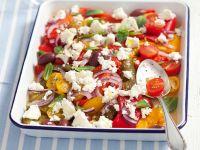Tomaten-Paprikasalat