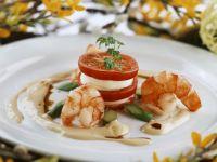 Tomaten-Türmchen mit Sauce Hollandaise