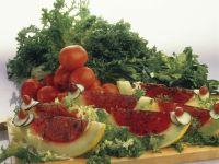 Tomatensülze in Melone