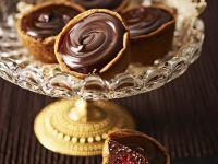 Torteletts mit Schokoladencreme