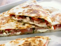 Tortilla mit Schinken und Käse