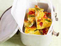 Tortilla mit Spargel und Käse