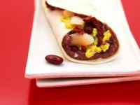 Tortilla-Wraps mit Bohnenpüree