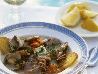 Toskanischer Fisch-Meeresfrüchte-Eintopf