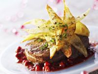 Tournedos mit Kartoffelhobeln und Cranberries