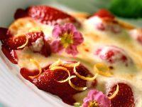 Überbackene Erdbeeren