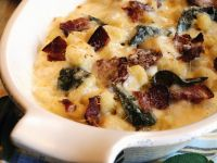 Überbackene Gnocchi mit Speck und Käse